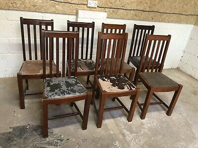 Set of 7 Restaurant Dining Chairs  (Pub / Bar / Cafe / Bistro Chairs)