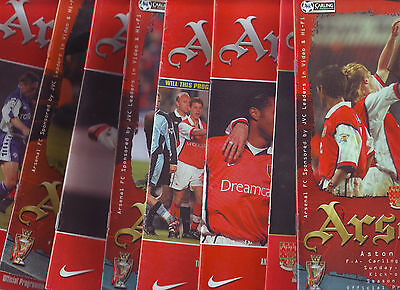 Arsenal V 10 Clubs!  Listed Villa, Derby Leicester, Newcastle Pne & More Vgc