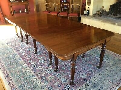 Antique George III c1810 Regency Dining Table attributed to Gillow of Lancaster