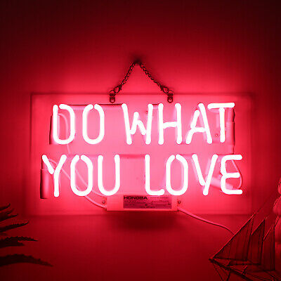Do What You Love Real Glass Neon Sign Beer Bar Store Party Lights Signs From US