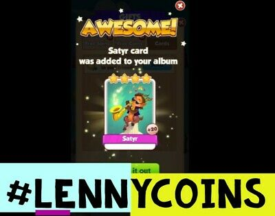 SATYR  COIN MASTER CARD! Fast Delivery! 100% Customer Satisfaction!