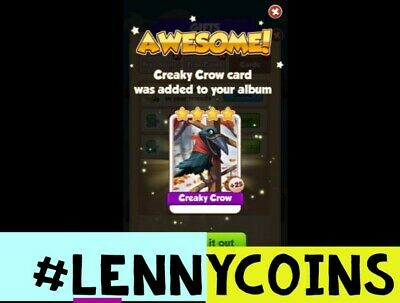 Creaky Crow Coin Master Card. Fast Delivery! 100% Customer Satisfaction!