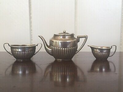 c1900 Fine Antique Miniature EPNS Silverplated Teaset, Dolls House, Teapot