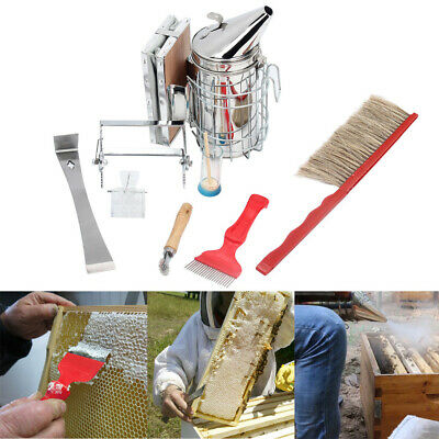 8pcs Beekeeping Supplies Tools Uncapping Fork Spur Wire Wheel Embedder Hive Tool