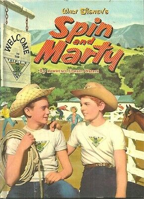 WALT DISNEY - SPIN AND MARTY Lawrence Watkins - WHITMAN 1535, 1957 PRINTING