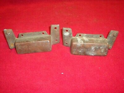 Vintage solid copper drawer pulls or trunk handles rustic hand made