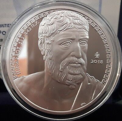 Best price 🅰 New SILVER Proof 🅰️ Greece PINDAR 10 Euro 2018 🅰️ GRECE GRECIA