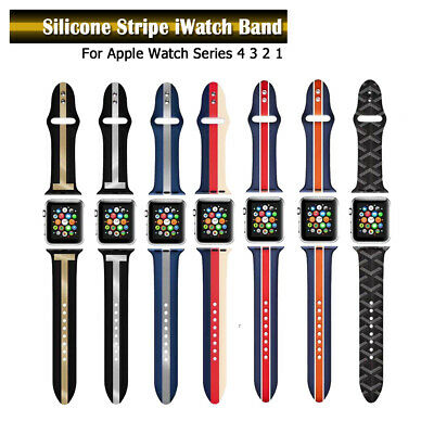 40/44mm Silicone Sports iWatch Band Strap for Apple Watch Series 5 4 3 2 38/42mm