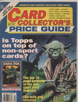 Card Collectors Price Guide  #5 Sept  1993 USA  Fine condition