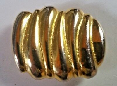 Vintage Signed Dotty Smith Gold and Silver tone Belt Buckle