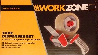 Clearance WORKZONE  Tape Dispenser with 2 rolls of tape