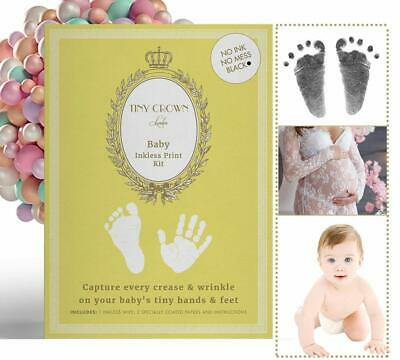 Rrp £12.99 Lux Tiny Crown London Baby Inkless Hand & Foot Print Kit Newborn Gift