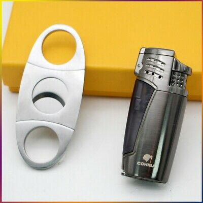 COHIBA Yellow WindProof Metal Lighters Jet Torch Flame Cigar Cigarette Lighter