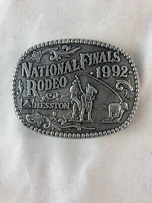 1992 HESSTON SMALL BELT BUCKLE Youth National Finals Rodeo WESTERN