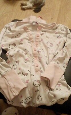 hello kitty all in one sleepsuit age 7