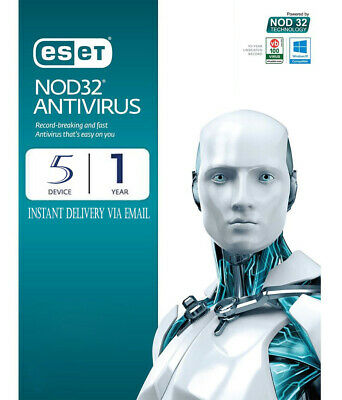 ESET NOD32 Antivirus 2019 -  5 Computers 1 year - Instant Delivery