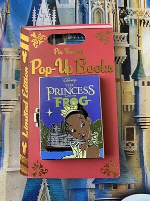 Disney Parks Trading Pop-Up Books The Princess And The Frog Tiana Pin LE In Hand