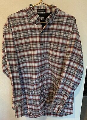1950cf0bf5f9 Resistol Rodeo Gear Western Cowboy Shirt Plaid Button Down Mens Size Large