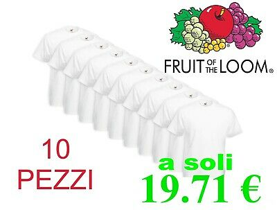 Guida Per Comprare 10 Magliette Fruit Of The Loom Stampa T-Shirt Bianche Unisex
