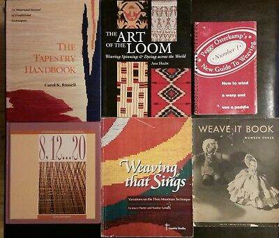 WEAVING lot of 6 books Peggy Osterkamp Theo Moorman Technique Multishaft Weaving