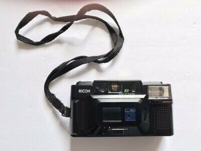 Ricoh FF-3 AF 35mm Film Point & Shoot Camera W/ Case - Tested