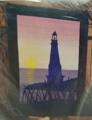 Sunset Lighthouse wall hanging quilt kit Sewing with Nancy Notions beach shore