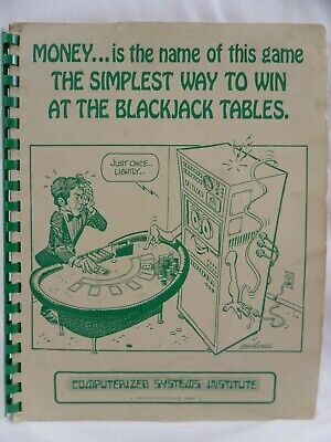 Computerized Systems Institute Simplest Way To Win Blackjack Vintage 1973 Book