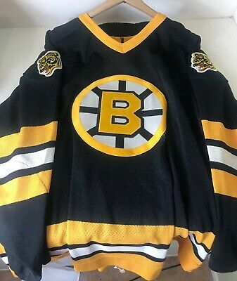 33b9c125c 100% AUTHENTIC PRO 48 Boston Bruins CCM Center Ice Jersey Blank ...