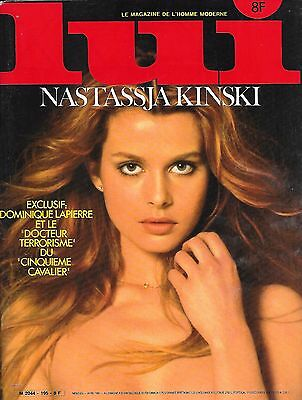 Vintage Lui France 1980 Nastassja Kinski  Sexy Cover Girls Very Rare