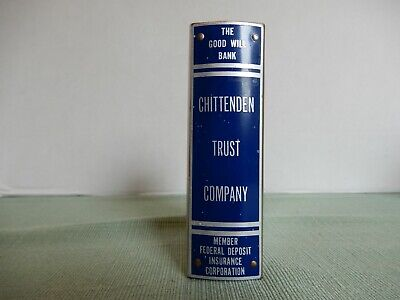 Vintage Chittenden Trust Company Book Style Coin Savings Bank- Stainless Steel