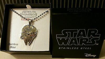 NEW Star Wars Jewelry Millennium Falcon Stainless Steel Disney Pendant Necklace