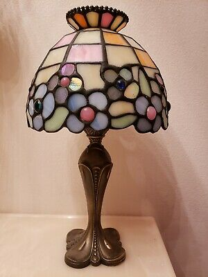 Partylite Tealight Lamp Stained Tiffany Style Glass Candle Holder