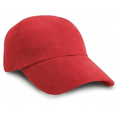 Result Headwear Kids Junior Low Profile Heavy Brushed Cotton Cap With RW3700