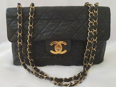 84f6b40cc8993a AUTHENTIC Chanel Vintage Jumbo MAXI 34cm 13
