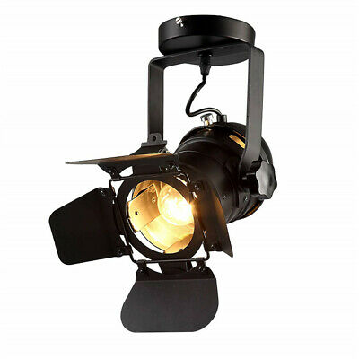 Loft Industrial Iron Spotlight Vintage Ceiling Lights LED Shop Light Track Light