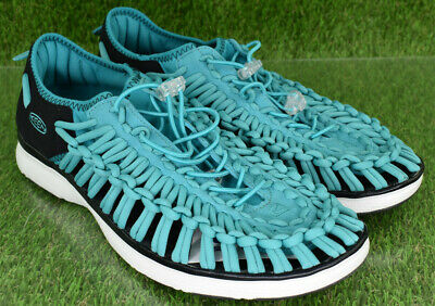 57379c2230 Keen Uneek Leather Turquoise Cord Rope Closed Toe Sandals Men's Sz 10.5  1018713