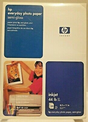 Hp Everyday Photo Paper, 8.5 X 11 in Semi-Gloss Photo Quality Inkjet 25 Sheets