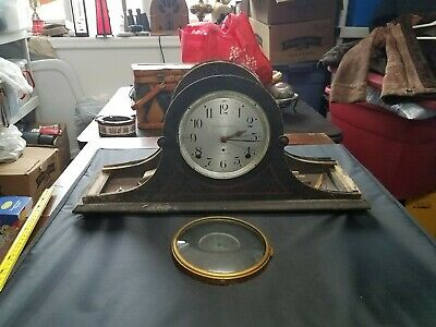 Seth Thomas Hennegan Bates Co. Vintage Mantle Clock,Key,Pendulum Parts/Repair