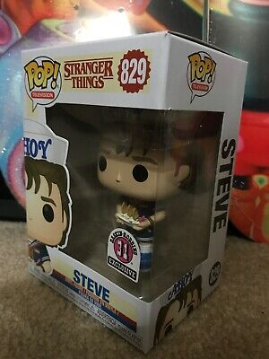 Stranger Things Steve Baskin Robins Exclusive Funko Pop #829 Rare