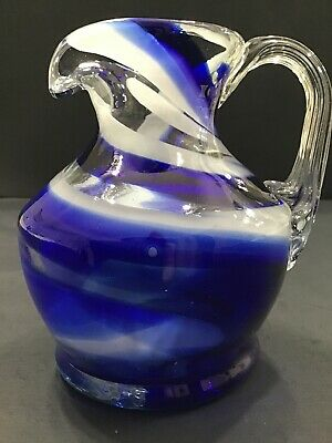 Glass Creamer Smiths Old Timer Hand Blown Glass ~ Fort Smith Art