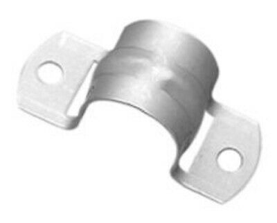 2x Clipsal METAL FULL SADDLES 5mm Hole, Stainless Steel*Aust Brand- 20mm Or 25mm