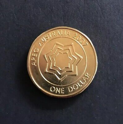 2007 APEC One Dollar Coin. Celebrating the Visit By APEC In 2007. MINT Bag Coins