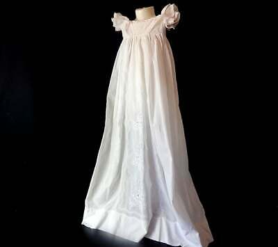 Handmade Ayrshire Christening Gown Antique with Exquisite Embroidery c.1840-50