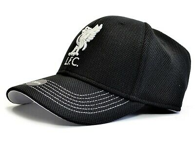 Official Liverpool FC  Black Fabric  Baseball Cap    Crested   FREE (UK) P+P