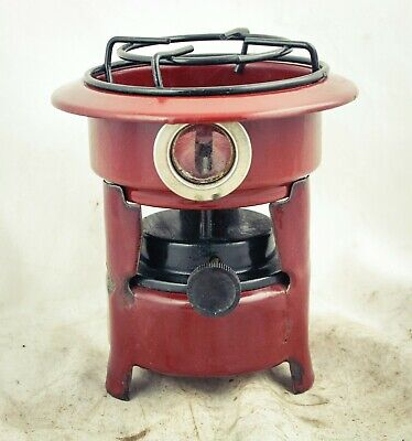 Dutch Enamelware Stove Kerosene fuel burner wick Petrol Enamel brownred
