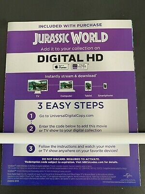 JURASSIC WORLD - DIGITAL HD - iTunes & ULTRAVIOLET