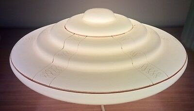 Large Antique 1930s Art Deco UFO Ceiling Light Shade Vintage Retro Pendant Lamp