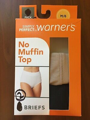80af1affa9da New Womens Simply Perfect by Warners No Muffin Top Briefs 2 Count Size M/6