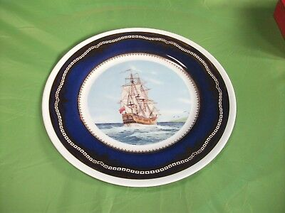 Captain Cook Endeavour Decorative Plate-In Good Condition-10.5 Ins In Diameter