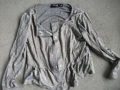 Girls Top Age 10-By Next-Height 140Cm-Long Sleeved-Appears Unworn-Glittery/Gold